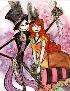 Love is in the air 💋☠🕷🕸🦇💀 Mister Jack, M Jack, Tim Burton Art, Tim Burton Films, Coraline, Jack Y Sally, Comic Collage, Sally Skellington, Tim Burton Characters