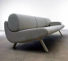 Anne-Mette Jensen and Morten Ernst have designed the In Duplo sofa series for the Danish furniture manufacturer Erik Jørgensen. In Duplo is a series that Danish Furniture, Sofa Furniture, Furniture Design, Canapé Design, Interior Design, Design Ideas, White Sofa Design, Modern Sofa Designs, Modern Design