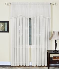 "Mystic Sheer 52"" Arch Curtain Valance"