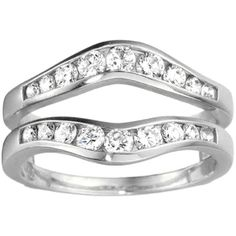 Sterling Silver 1/2ct TDW Diamond Graduated Contour Style Ring Guard (G-H, I2-I3) (White Sterling Silver, Size 9.50), Women's, Size: 9.5
