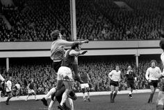After half a dozen appearances - mostly in the Cups - during the 1969/70 season, Clemence replaced Tommy Lawrence as first-choice keeper following the clubs shock FA Cup exit at Watford. Here he punches clear under pressure from Jimmy Greaves at Upton Park in March 1970