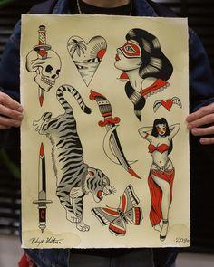 Tatoos by Patryk Hilton Old Tattoos, Tatoos, Sang, Traditional Tattoos, Tattoo Flash, Future Tattoos, Tattoo Drawings, Female Bodies, Old School
