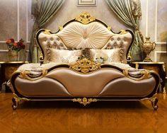 Source Bisini Classic Style Fabric Villa Bedroom Set On M Alibaba