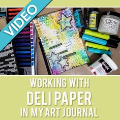 ♥ Working with Deli Paper & Crackle Paint - Mixed Media Art Journal | Bella Rose Creative ♥  | mixed media art journal tutorial, process, techniques, texture, decoart media, tutorial, dylusions paint, derwent, inktense, blocks, pencils, modeling paste, deli paper, ranger, distress stain, gelatos, faber castell
