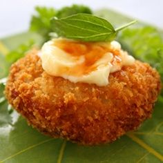 Thai-style Fish Cakes with Sweet Chili & Basil Mayo.  If you like crab cakes, you'll love these amazingly similar fish cakes!