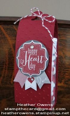 Valentine Treat using the scalloped tag topper punch, tags 4 you and banner blast from Stampin' Up!