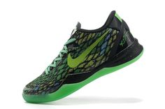 97e6ee8b9ed7 Nike Zoom Kobe 8 System Year Of The Snake Mamba Black Green 555035 105 Red  Basketball