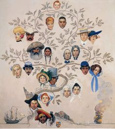 """Norman Rockwell Museum Presents """"Hats Off!"""" lecture this Sunday, March 30 - Norman Rockwell Museum - The Home for American Illustration Peintures Norman Rockwell, Norman Rockwell Art, Norman Rockwell Paintings, Illustrations, Illustration Art, The Saturdays, Retro, Collage, Painting Wallpaper"""