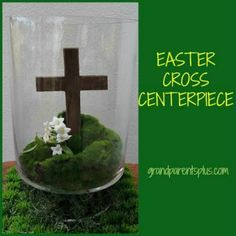 Easter Cross Centerpiece is featured in Bowdabra Feature Friday Favorite Five Cool #Easter #Crafts and Ideas.