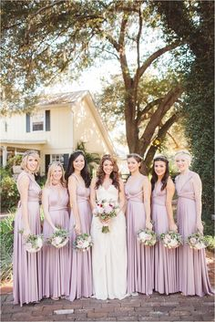 Heather ballgowns | twobirds Bridesmaid dresses | multiway convertible dresses! | via J Photography by Jessi Caparella