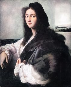 (1-2) Portrait of a young man (?) in a fur coat by Raphael, 1513-1514, Czartoryski Museum in Cracow, lost during World War II. The painting was acquired by Adam Jerzy Czartoryski in Venice in 1800 or 1801 from the Giustiniani collection, (3-4) Detail of the School of Athens by Raphael, 1509-1511, Raphael Rooms, Vatican Museums. The same youth was most probably depicted as Alexandrine female mathematician Hypatia. #intersex #artinpl #16thcentury #renaissance #hermaphroditus #male #female…
