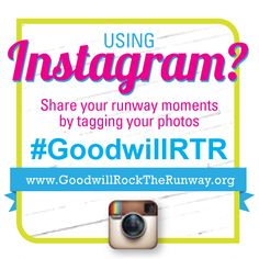 REMINDER -- If you purchased tickets to this year's show, YOU could model in our 2014 show!     Simply snap a pic of yourself at the show tonight, upload it to your Instagram account and tag the pic with hashtag #GoodwillRTR! Then, you'll be entered to win one of three chances to Rock the Runway NEXT YEAR! Winners to be announced in the coming weeks after the show! Plus, find Goodwill on Instagram @TriadGoodwill! www.GoodwillRocktheRunway.org