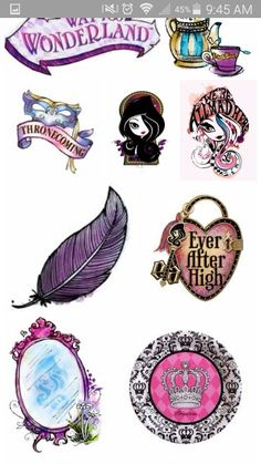 Ever after high logos and symbols