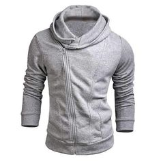 Mens Hooded Casual Fleece Sweatshirt