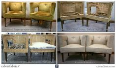 regenc chair, calvin redux, calvin fabric, reupholsteri work, hollywood regency, billi hain