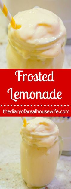 Homemade Frosted Lemonade. I love this umber treat! It's SO easy to make.