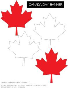 Canada Day Printables including cupcake wrapper, banner, drink flag and cupcake topper for your Canada Day celebrations. Canada Day 150, Happy Canada Day, O Canada, Diy Birthday Banner, Diy Banner, Birthday Wishes, Canada Day Crafts, Diy Canada Day Decor, Canadian Quilts