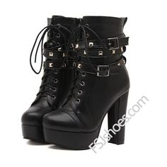 Leila Black Lace-up Boots (150 BAM) ❤ liked on Polyvore featuring shoes, boots, laced shoes, kohl boots, party shoes, black party shoes and lace front boots