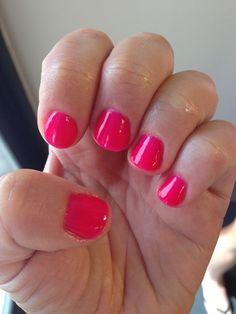 pink shellac nails - Google Search