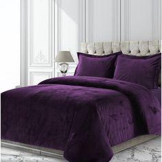 King Duvet Cover Sets, Bed Duvet Covers, Comforter Sets, Purple Comforter, Purple Bedding Sets, Burgundy Bedding, Purple Duvet Covers, Purple Bedspread, Plum Bedding