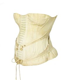 Cotton maternity corset, 1892...women still wore corsets when they were pregnant? wow.