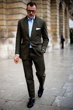 Love the color of the suit.