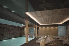 SPA - Hotel de Rougemont - By Plusdesign, architects Claudia Sigismondi & Andrea Proto Hotel Spa, Architecture, Creative, Design, Arquitetura, Architecture Design, Design Comics, Architects