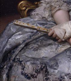 """Portrait of Maria Luisa of Spain, Holy Roman Empress"" (1770) (detail) by Anton Raphael Mengs (1728-1779)."