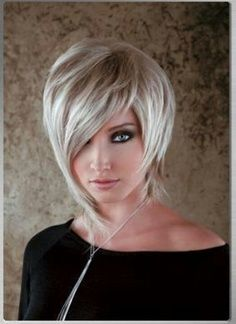 Asymmetric hairstyles on Pinterest