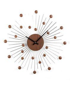Loving this Mid-Century Star Wall Clock on #zulily! #zulilyfinds