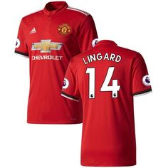 Jesse Lingard Manchester United adidas 2017/18 Home Replica Patch Jersey - Red/White - $114.99