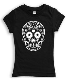 Loving this Black Sugar Skull Fitted Tee - Toddler & Girls on #zulily! #zulilyfinds