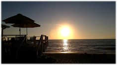 Our Sunset Deck at The Pearl Beach Inn at sunset!