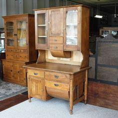 Antique Primitive Possum Belly Kitchen Cabinet