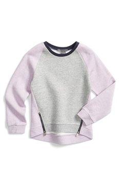 Vince+Colorblock+Fleece+Sweatshirt+(Toddler+Girls+&+Little+Girls)+available+at+#Nordstrom