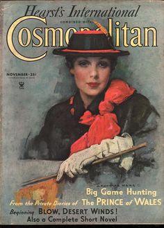 Cosmopolitan magazine, NOVEMBER 1934  Artist: J. Knowles Hare