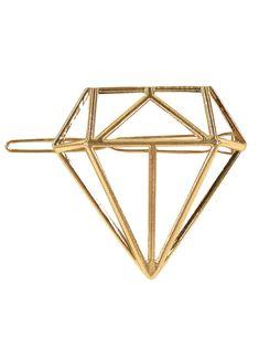 Metalowa spinki do włosów w kolorze złotym, idealna by w stylowy sposób upiąć kok lub kucyk. Precyzyjnie wykonana, stanowi doskonałe dopełnienie fryzury zarówno eleganckiej jak i klasycznej. Ozdobną część spinki stanowi diament o wymiarach 5.5cm x 5.5cm, zapięcie ma długość 6.5cm. Spinka ma gładką powierzchnię dzięki czemu nie ciągnie włosów. Bracelets, Gold, Jewelry, Jewlery, Jewerly, Schmuck, Jewels, Jewelery, Bracelet