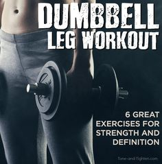 This dumbbell leg workout focuses on toning and strengthening your quads and glutes. Make those thighs and booty pop with this awesome free weight workout. Dumbbell Leg Workout, Leg Workout Plan, Leg Workout At Home, Strength Workout, Butt Workout, Workout Ideas, Strength Training, Fitness Workouts, Fun Workouts