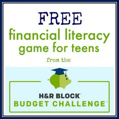 This is a free financial literacy program in the form on an online game. The highest scoring students win grants and scholarships!