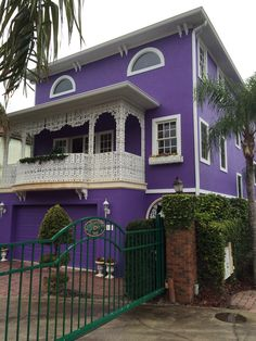 Purple house. Mt Dora, Florida