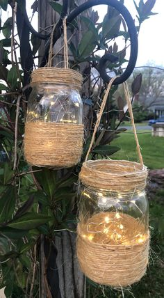 16 Oz Mason Jars, Hanging Mason Jars, Rustic Mason Jars, Ball Mason Jars, Lighted Wine Bottles, Mason Jar Lighting, Mason Jar Crafts, Mason Jar Centerpieces, Rustic Wedding Centerpieces