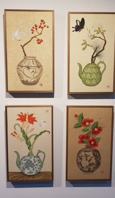 Korean Painting, Chinese Painting, Chinese Art, Traditional Paintings, Traditional Art, Art And Fear, Circle Painting, Chinese Paper Cutting, Japanese Illustration