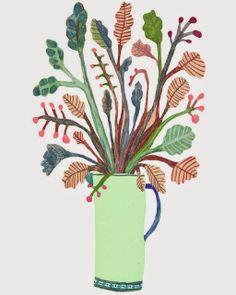 Monika Forsberg's Art. Art And Illustration, Landscape Illustration, Botanical Illustration, Morris, Artist Sketchbook, Arte Popular, Botanical Prints, Floral Prints, Picture Design