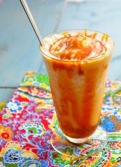 Vegan Banana Caramel Milkshake. #drinks