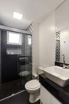 Banheiro preto e branco: estilo e elegância em duas cores