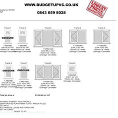 Buy DIY windows and doors online direct from the manufacturer, www.budgetupvc.co.uk