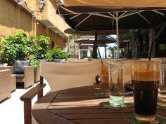 Frappe at a cafe in Cyprus.