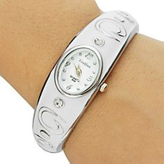 Damen+Modeuhr+Armband-Uhr+Quartz+Edelstahl+Band+Armreif+Elegante+Weiß+Rosa+Lila+Weiß+Purpur+Rosa+–+EUR+€+8.81 Watches Online, Cool Watches, Bracelet Watch, Bracelets, Unique, Stuff To Buy, Accessories, Color, Ebay
