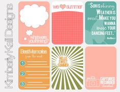 52 Weeks of #Project Life Journaling Cards FREE