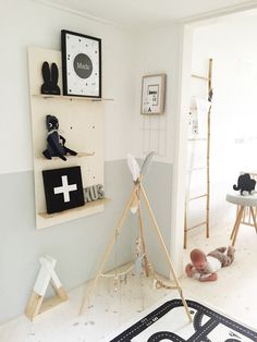Do it yourself: Tipi babygym Home Decor Bedroom, Kids Bedroom, Bedroom Ideas, Diy Baby Gym, Scandinavian Kids Rooms, Baby Room Colors, Kids Room Design, Baby Kind, Nursery Inspiration